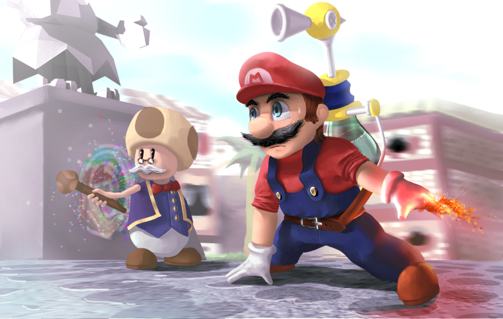 super_mario_sunshine__the_war_is_on_by_greenibr-d798nm21
