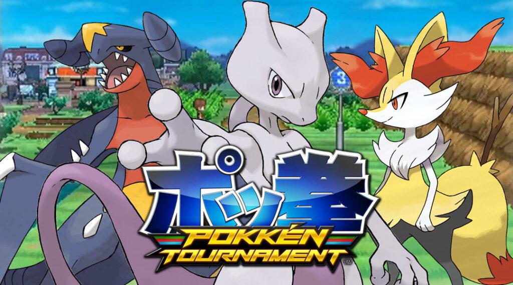 Pokken-Tournament-Mewtwo-Braixen-Garchomp