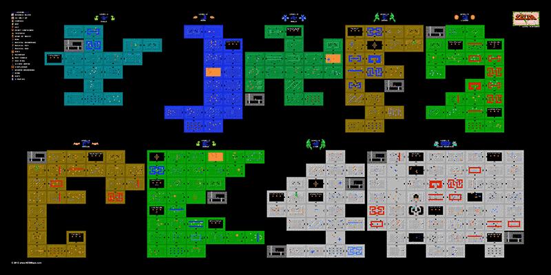 ZeldaDungeonsmaps