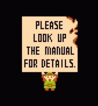 Zelda NES manual