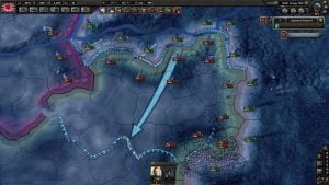 A beautiful map shows territories, weather, units, and strategic movements.