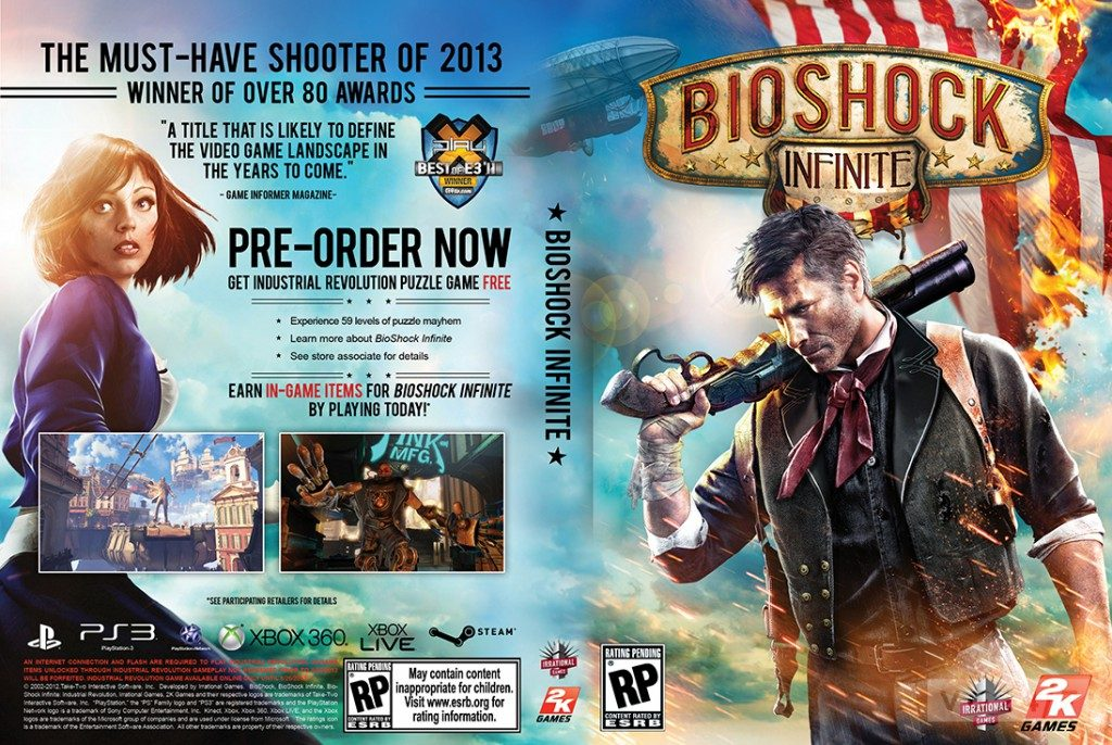 While Elizabeth is essential to the story of Bioshock Infinite, she had to make do with the back cover of the box.