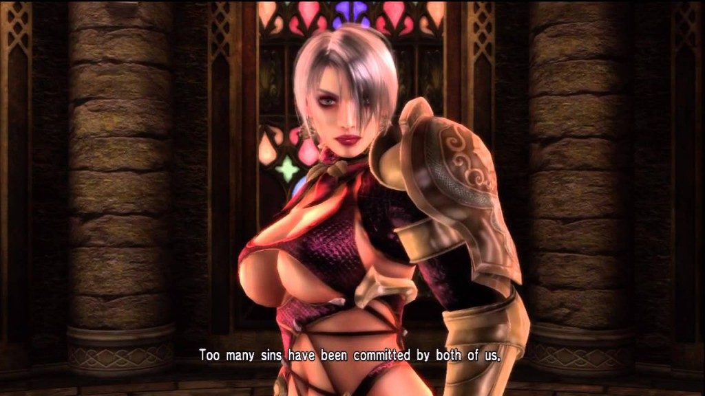 The writers of Soul Calibur originally envisaged Ivy as a Pulitzer Prize winning short story author, but the character designers didn't get the memo, resulting in this comically impractical attire.