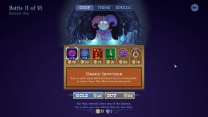 The shop lets you gear up and get new spells, which changes the way matches play out.