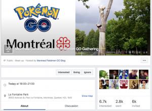 Pokemon Go Facebook Event Screenshot