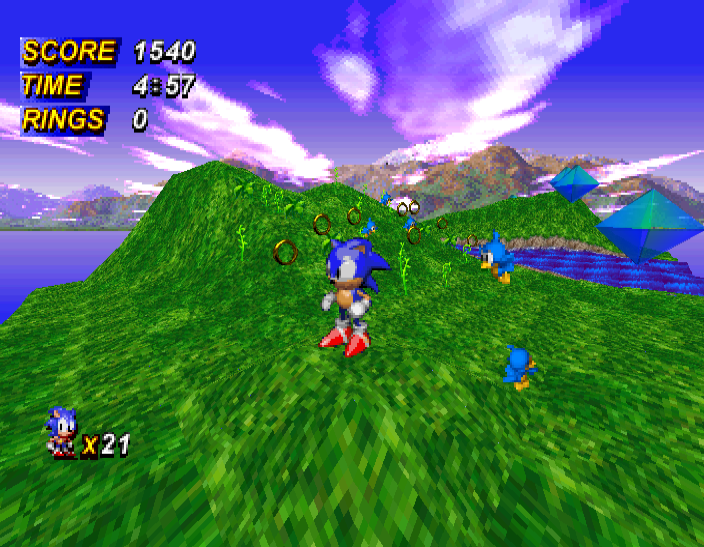 Sonic X-Treme, the propose Mario killer. Oddly this never got released