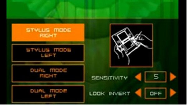 Metroid Prime Hunters Controls