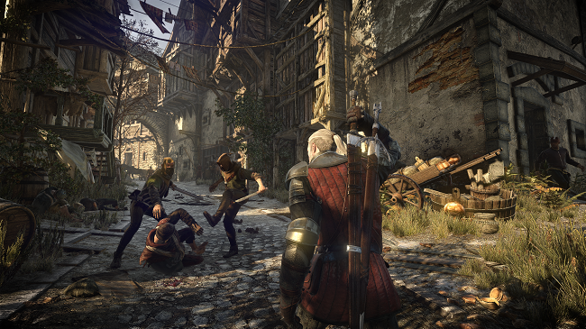 Geralt can happen upon all kinds of incidents, and if the player wishes it, he can usually step in.
