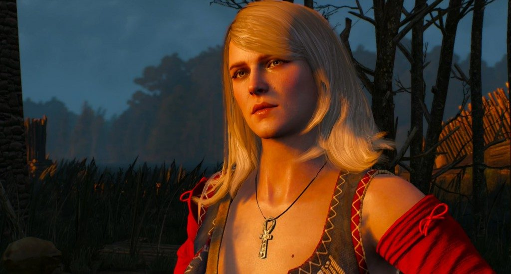 The sorceress Keira Metz is an old friend of Geralt, and like all old friends, comes with her own branching quest-lines.
