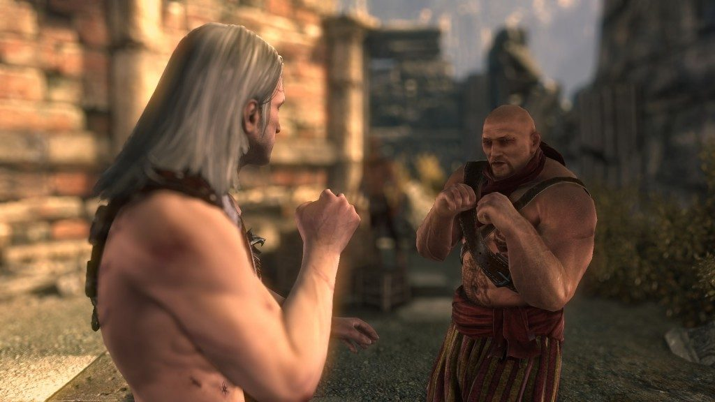 Geralt can join a bare-knuckle boxing competition to prove his worth among the peasants.