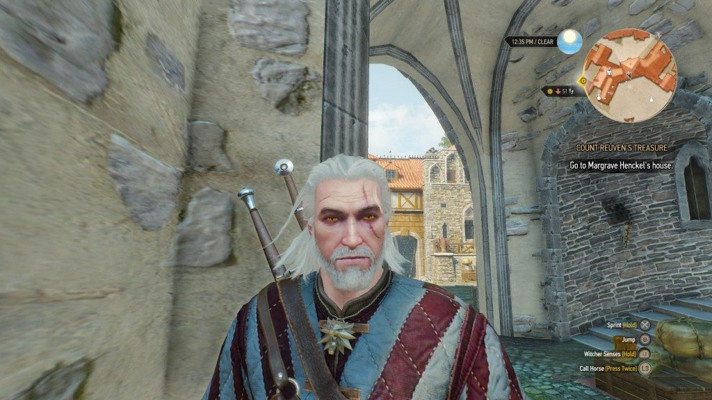 Geralt's beard grows over the course of the game. Seriously. In fact, for beard lovers everywhere, one of the first pieces of free DLC is a hair/beard style pack, allowing more styles of grooming for all you witchers who like to look good.