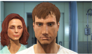 An attempt at creating my character on Fallout4. I don't think I would have survived the wasteland if it wasn't for that stella chin!