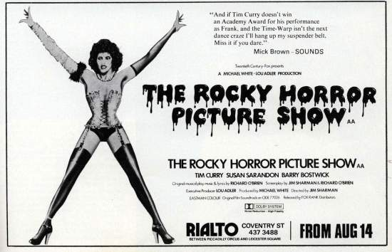 UNSPECIFIED - circa 1970: (AUSTRALIA OUT) Photo of ROCKY HORROR SHOW (Photo by GAB Archive/Redferns)