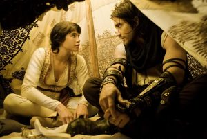 Gemma Arterton holds her own as Princess Tamina, a strong, female protagonist that defies the damsel-in-distress trope and develops an appreciation for Prince Dastan through their interactions and team work.