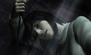 Angela contemplates suicide. Silent Hill 2