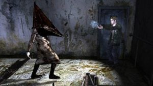 The iconic Pyramid Head.