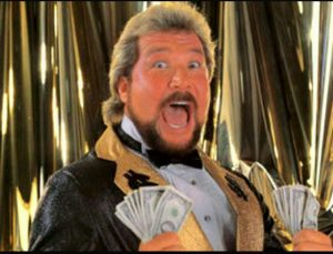 """""""Million Dollar Man"""" Ted DiBiase might have been rich enough to buy his own black, wrestling man-servant, but even he baulked at the price of a Vita memory card."""