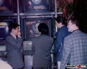 Nintendo's Shigeru Miyamoto playing Crash Bandicoot.