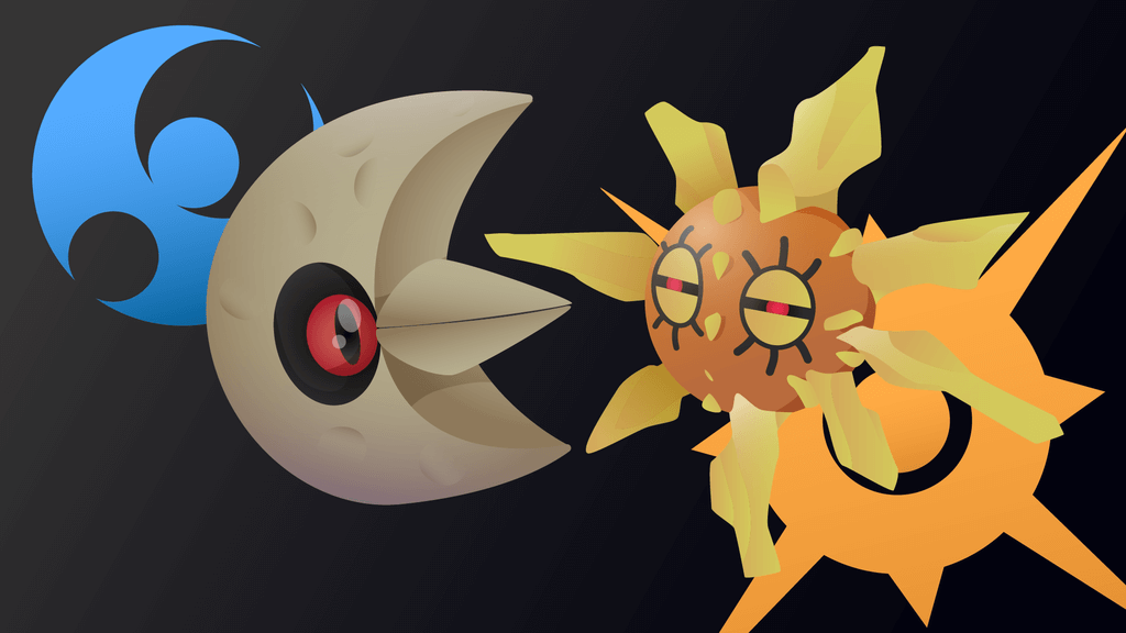 Solrock and Lunatone