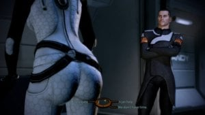 Commander Shepard and Miranda Lawson