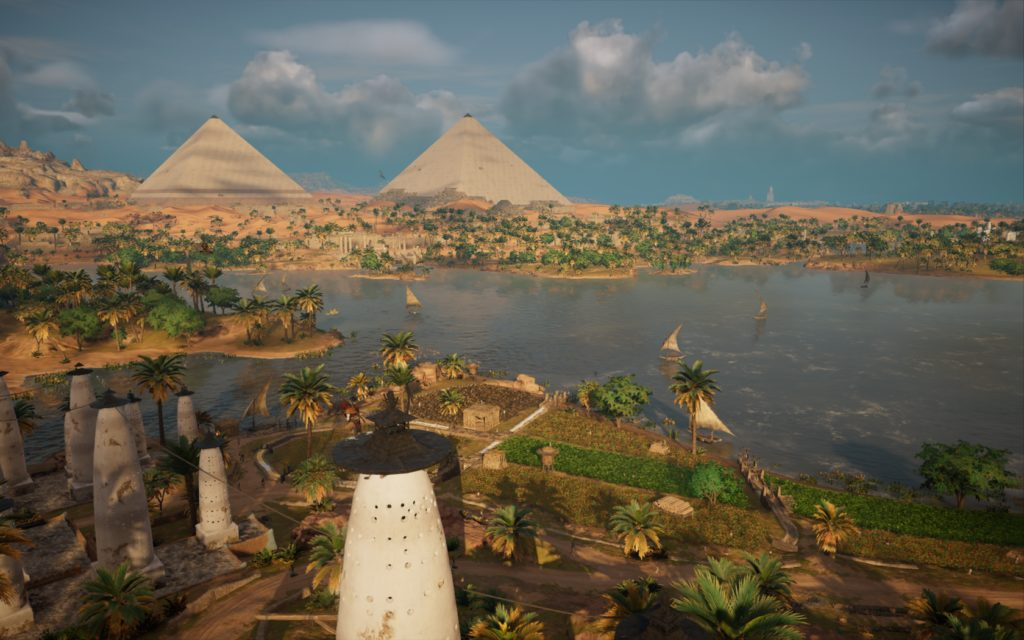 pyramid view Assassin's Creed Origins