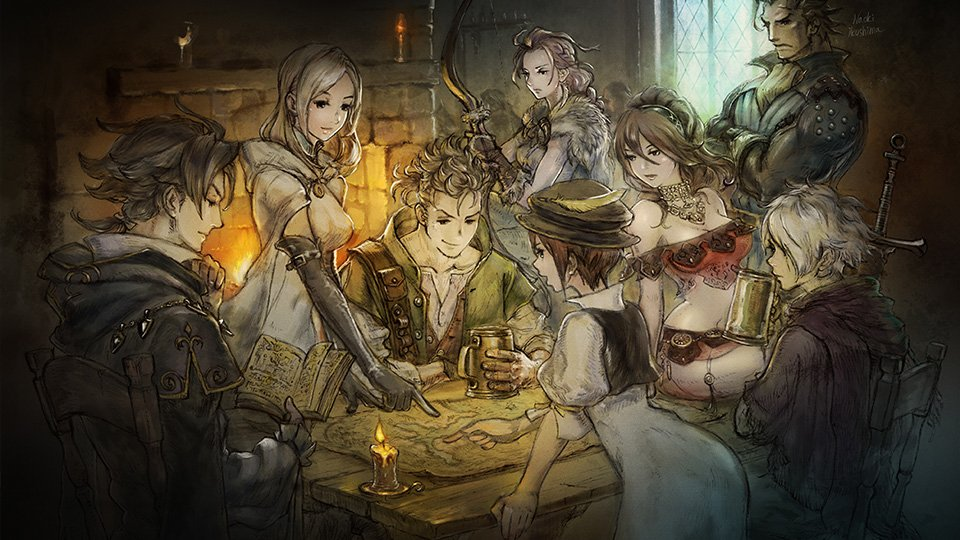Octopath Traveler artwork