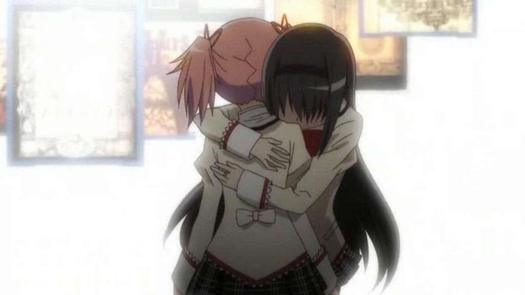 Kaname Madoka and Akemi Homura