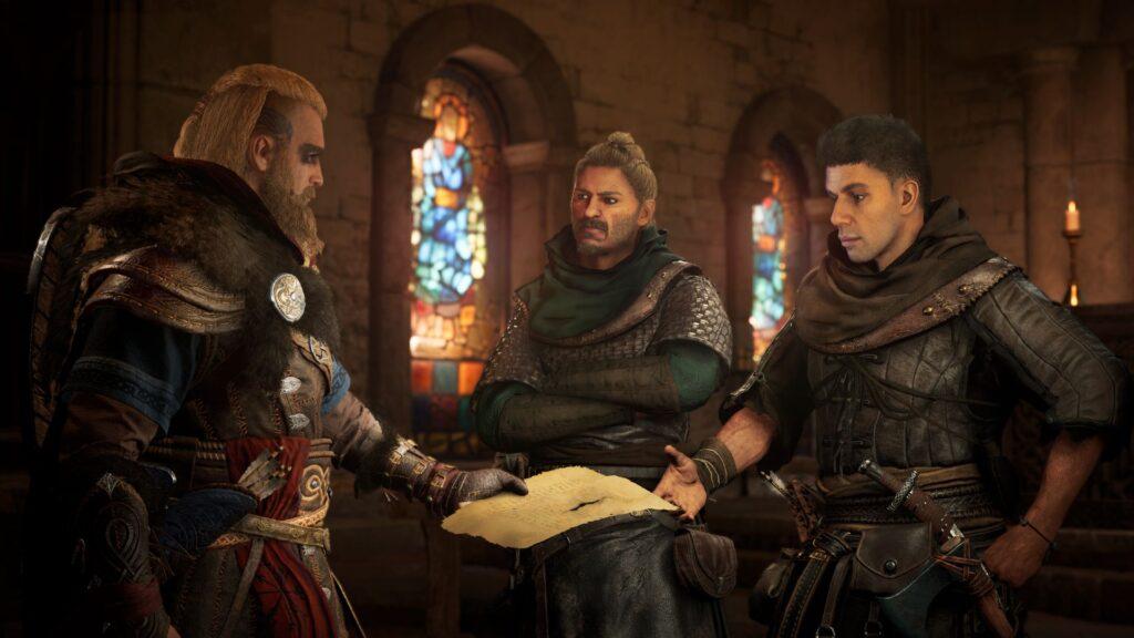 Eivor meets Stowe and Erke