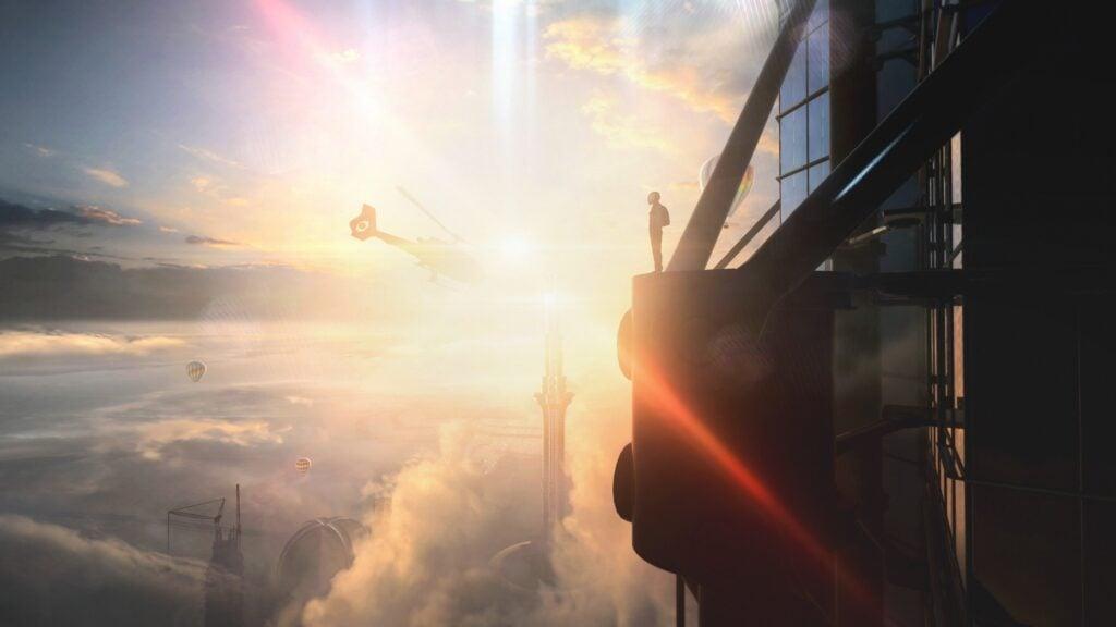 A skyline shot of Dubai, showcasing the game's visuals