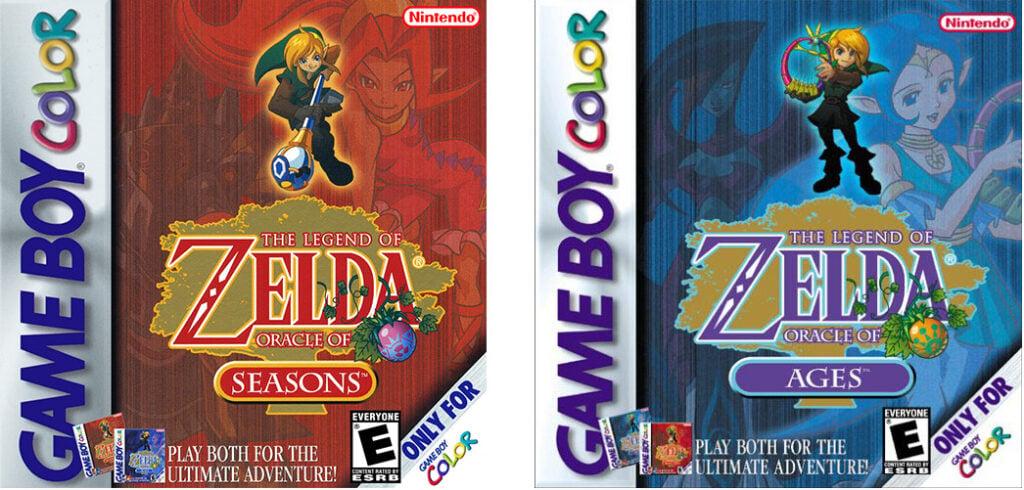 Zelda games NA release cases