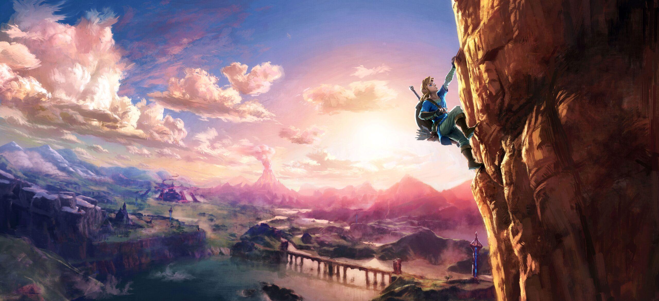 BotW Link Climbing (image courtesy of Zelda Gamepedia)