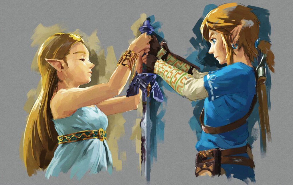 BotW Link and Zelda (image courtesy of Zelda Gamepedia)