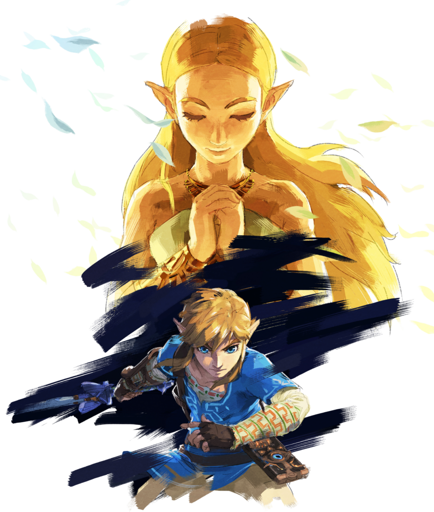 BotW Link with Zelda (image courtesy of Zelda Gamepedia)