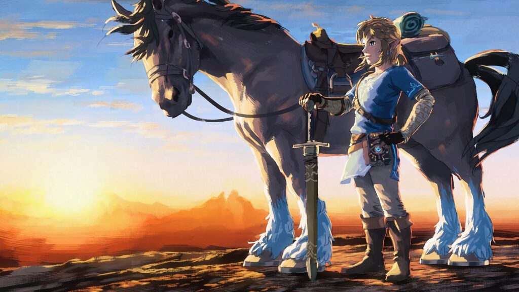 BotW Link with horse (image courtesy of Zelda Gamepedia)
