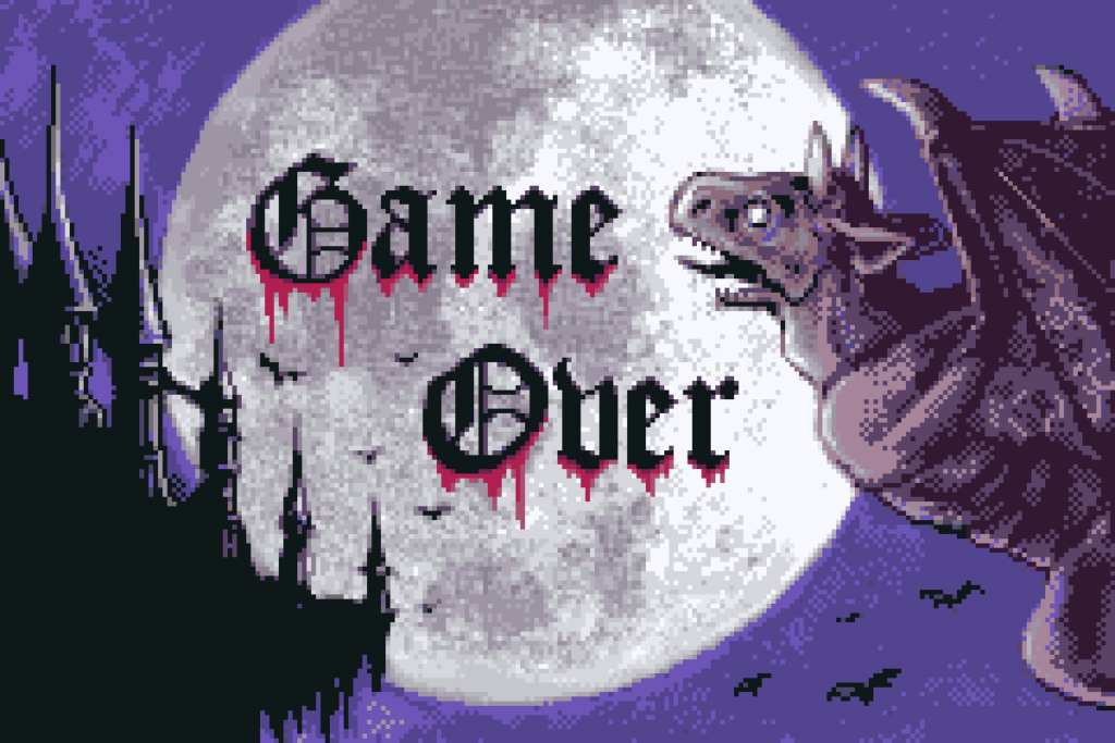 Game Over Castlevania Circle of the Moon screenshot by Renan Fontes