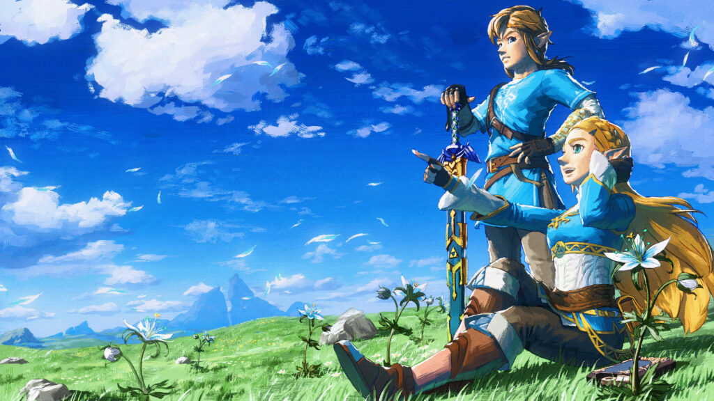 Link and Zelda in BotW (image courtesy of Zelda Gamepedia)