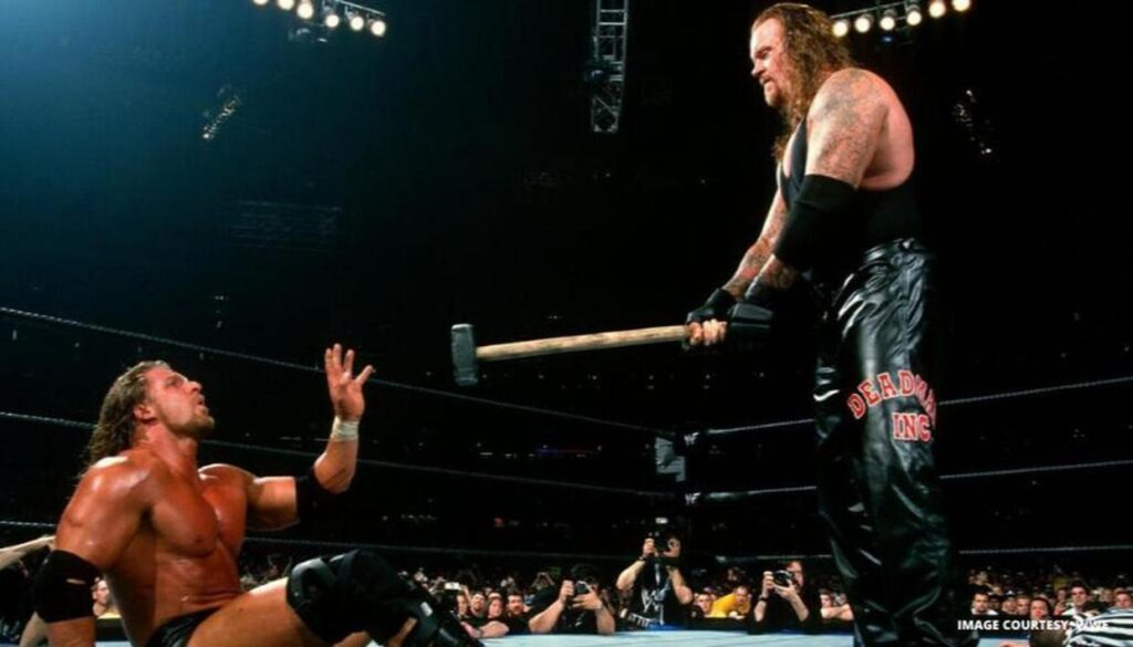 Wrestlemania X-Seven – Triple H Undertaker