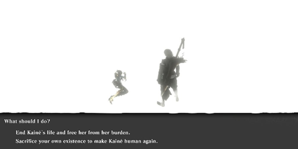 Nier Replicant Choice - Image Courtesy of Boss Fight Database