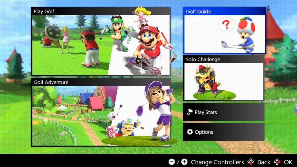 Mario Golf: Super Rush Main Menu Tips