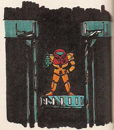 Samus in Brinstar - image courtesy of Metroid Database