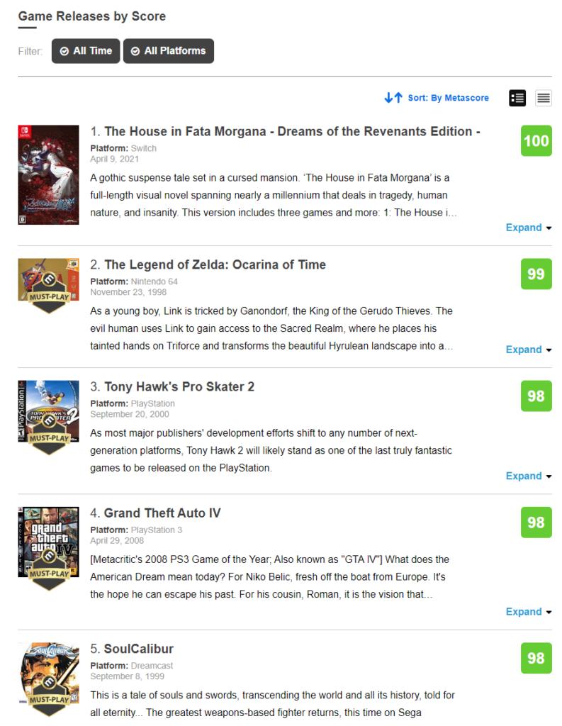 The House in Fata Morgana Metacritic