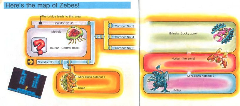 Zebes Map - image courtesy of Nintendo