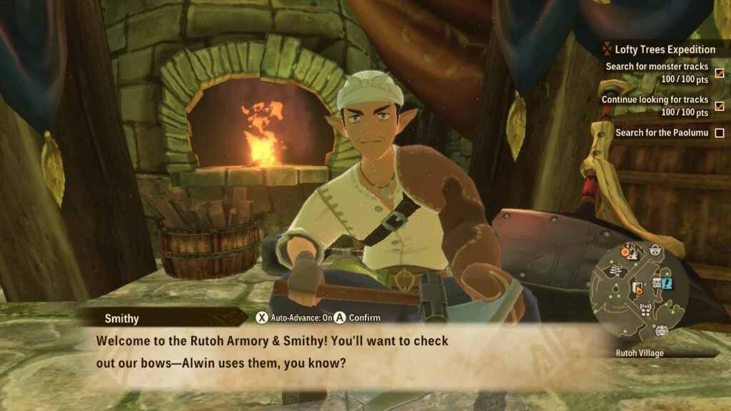 Monster Hunter Stories 2: Wings of Ruin Smithy