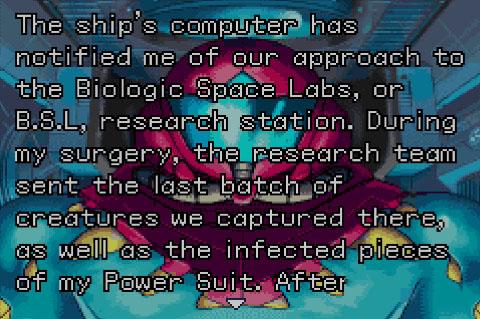 Metroid Fusion Monologue 2 - image courtesy of YouTube