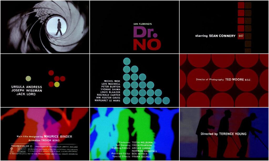 Dr. No opening credits