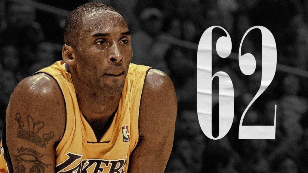 Kobe Bryant 62 to 61