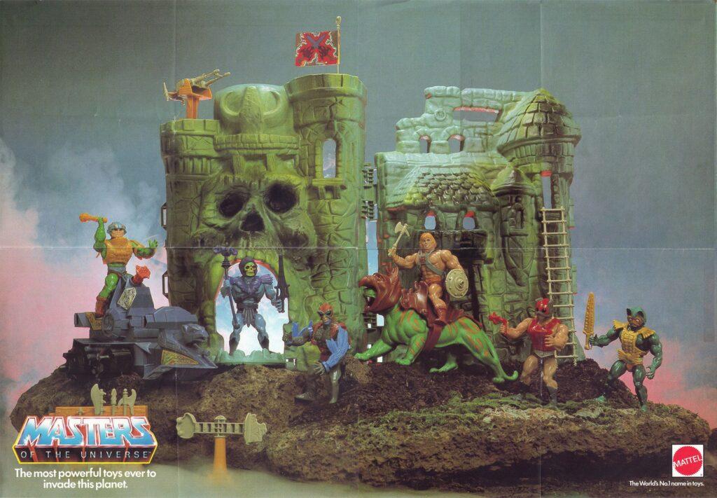 MOTU original 1980s action figures.