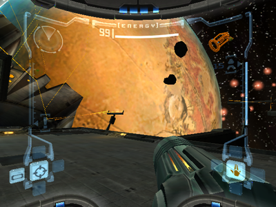 Metroid Prime HUD - image courtesy of the cutting room floor