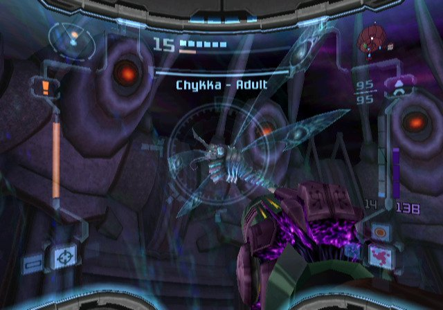 Bosses like the Chykka and Spider Ball Guardian are among the most difficult in the series. |