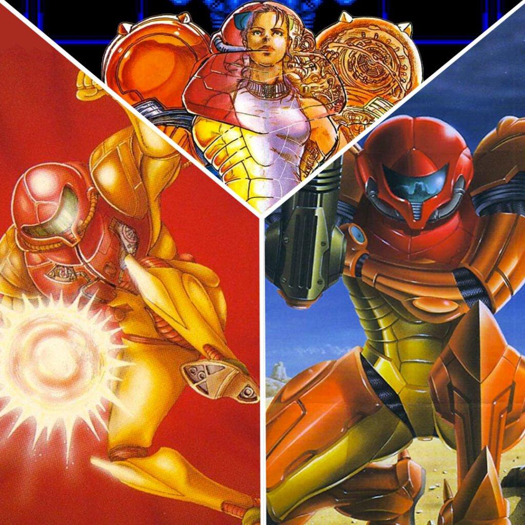 Samus original Metroid trilogy - image courtesy of Renan Fontes